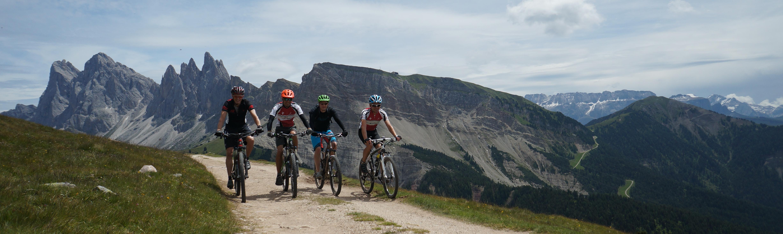 Bikeferien im Val Gardena, Dolomiten